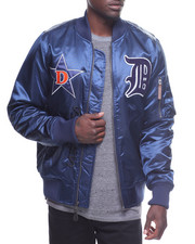 Outerwear - Patched Detroit Bomber