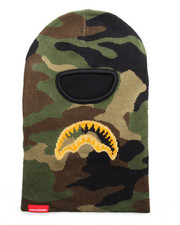 Sprayground - Gold Knit Shark Mouth Ski Mask