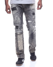 Men - PATCH WORK DISTRESSED JEAN