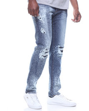 Men - RIPPED JEAN W BLEACHED SPLATTER DETAIL