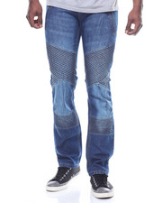 Straight - Moto Stitch Jean