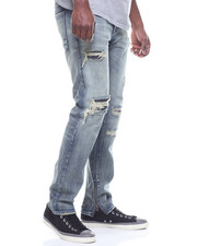 SMOKE RISE - BLOWN OUT KNEE JEAN