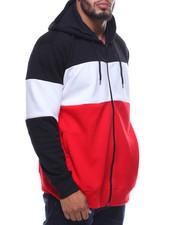 Men - Tech Fleece Color Block Full Zip Hoodie (B&T)-2159768