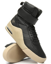 Radii Footwear - Apex Jet Pebble Leather Gum Sneakers