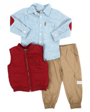 Sizes 2T-4T - Toddler - 3 Piece Vest Long Set (2T-4T)