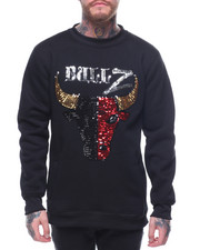 Buyers Picks - SEQUIN BULLZ CREWNECK SWEATSHIRT-2160027