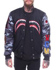 Outerwear - Camo Sleeve Shark Bomber