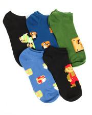 Men - 5 Pack Super Mario No Show Socks