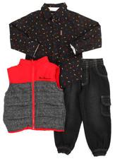 Sets - 3 Piece Vest Long Set (4-7)