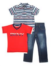 DKNY Jeans - Serene Woven 3 Piece 3 Piece Set (4-7)
