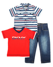DKNY Jeans - Serene Woven 3 Piece Set (2T-4T)