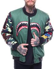 Heavy Coats - Camo Sleeve Shark Bomber
