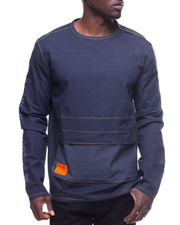 Long-Sleeve - CHAMBRAY SQUAD CREW L/S SHIRT W POUCH