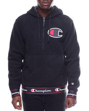 Champion - ZIP UP FLEECE HOODIE W LARGE LOGO