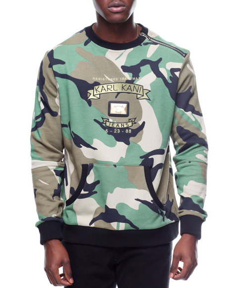 buy camo trademark terry crew men 39 s sweatshirts sweaters. Black Bedroom Furniture Sets. Home Design Ideas