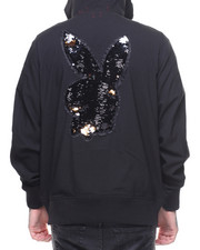 Fall-2017-Mens - CRANE HOODED BOMBER w / Illusion Sequins