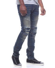 SMOKE RISE - MOTO JEAN W ZIP KNEE
