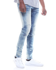 SMOKE RISE - Pieced New Moto Jean
