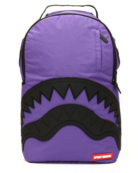 Sprayground - 3M Purple Black Rubber Shark Backpack