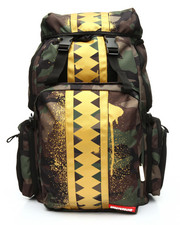 Sprayground - Top Gear VSM Gold Stencil Camo Shark Backpack