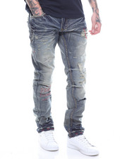 Jeans & Pants - INDIGO JEAN WITH RED STICHING DETAIL