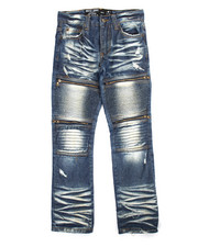 Boys - Acid Wash Moto Dean Jeans (8-20)