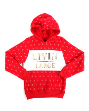 Boys - L/S Livin Large Fleece Hoodie (8-20)