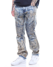 Jeans & Pants - DISTRESSED MOTO JEAN WITH DIRT CAST