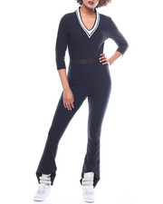Jumpsuits - V-Neck Jumpsuit-2161939