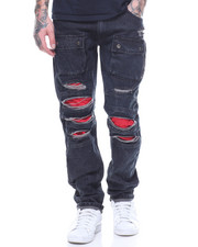 Jeans & Pants - Cargo Red Detail Jean
