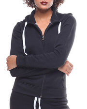 Fashion Lab - Fleece Zip Hoodie-2162056