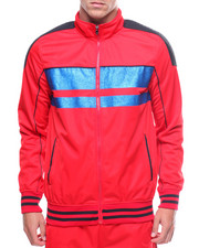 Track Jackets - Track Jacket w Metallic Stripe