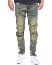 Men - Stretched Ripped Wash Jeans