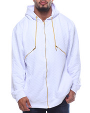 Light Jackets - L/S Down Quilted Fleece Hoodie (B&T)