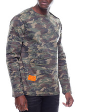 Long-Sleeve - CAMO SQUAD CREW L/S SHIRT W POUCH