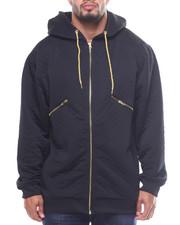 Light Jackets - L/S Zip Down Quilted Fleece Hoodie (B&T)