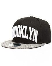 Hats - Heather Grey Brim Brooklyn City Snapback