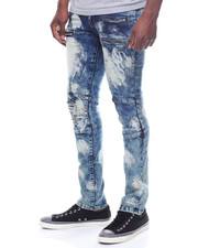 CALIBER - SHELDON OILED DISTRESSED MOTO JEAN