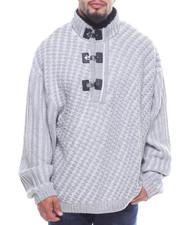 Pullover Sweatshirts - 3 Button Sweater (B&T)