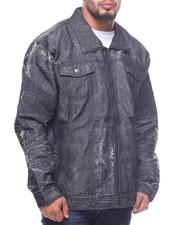Denim Jackets - Sanded Biker Jacket (B&T)