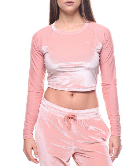 73a61c8d308 Buy Explosive Velvet Crop Mesh Sleeve Women's Tops from Puma. Find ...