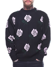 Sweaters - Allover Rose Jacquard Knit Sweater-2162903