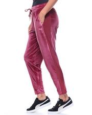 Bottoms - Yogini Velvet Pant Mesh Trim