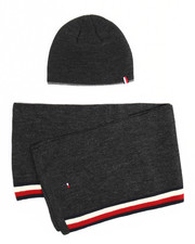 Hats - Tommy Hilfiger Side Stripe Hat & Scarf Set