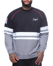 Men - L/S Center Stripe Color Block Sweatshirt (B&T)