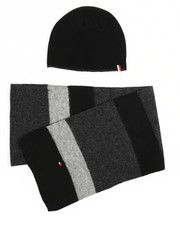 Hats - Tommy Hilfiger Horizontal Stripe Hat & Scarf Set