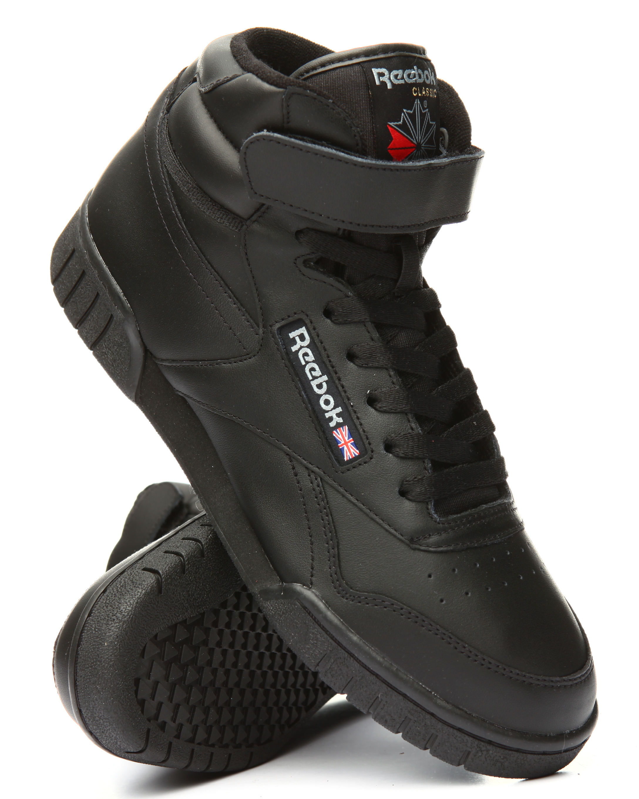 EX O FIT LEATHER SHOES Sneaker high black