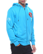 Light Jackets - POSTER PATCH ZIP UP HOODIE