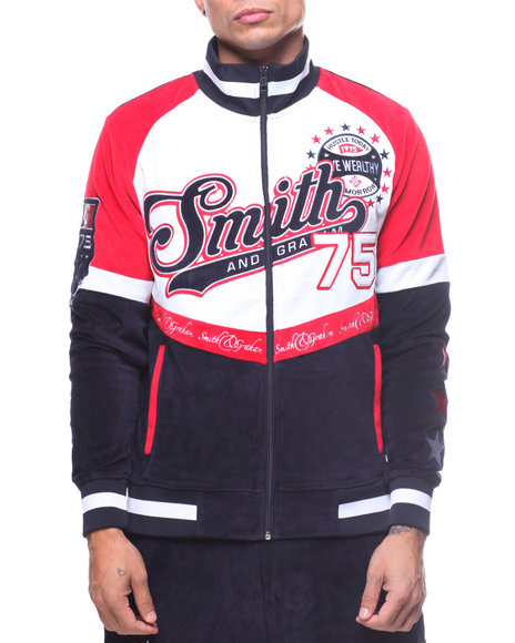 Smith & Graham - Velour Full Zip Jacket-2164356