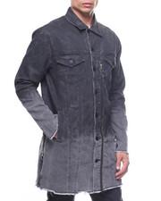 Global Movement Mens - Black Shade Trench Jacket